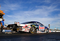 Feb 3, 2015; Chandler, AZ, USA; NHRA pro stock driver Jason Line during testing at Wild Horse Motorsports Park. Mandatory Credit: Mark J. Rebilas-USA TODAY Sports