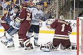 John Hopson, Anthony Aiello, Derek Damon, Cory Schneider - The Boston College Eagles defeated the University of Maine Black Bears 4-1 in the Hockey East Semi-Final at the TD Banknorth Garden on Friday, March 17, 2006.