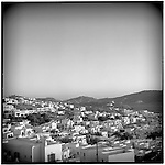 July 1996 -- Mykonos, Greek Islands -- A view of the city center..Andrew Kaufman©1996