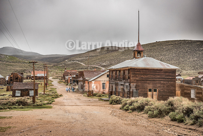 Historic school house, the ghost town of Bodie, California, State Historic Park.