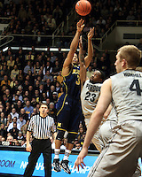 The University of Michigan Men's Basketball team defeat Purdue 66 - 64 at Purdue University's Mackey Arena. Tuesday, January 24th, 2012. West Lafayette Indiana