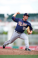 Minnesota Twins pitcher Juan Gamez (33) during an Instructional League game against the Boston Red Sox on September 23, 2016 at JetBlue Park at Fenway South in Fort Myers, Florida.  (Mike Janes/Four Seam Images)