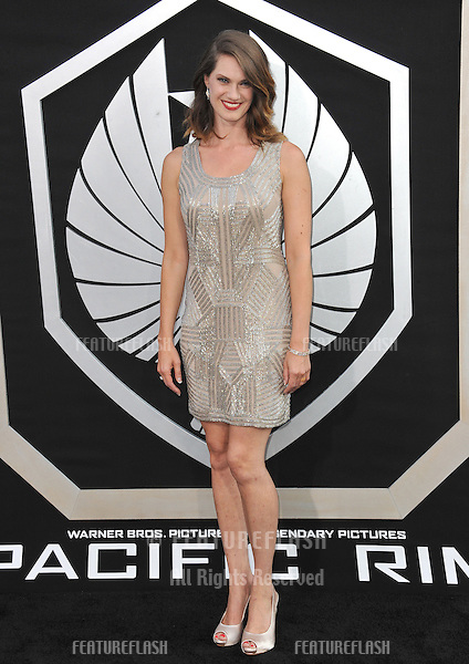 Heather Doerksen at the premiere of her new movie Pacific Rim at the Dolby Theatre, Hollywood.<br /> July 9, 2013  Los Angeles, CA<br /> Picture: Paul Smith / Featureflash