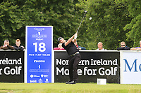 Scott Henry (SCO) tees a provisional off the 18th tee during Sunday's Final Round of the Northern Ireland Open 2018 presented by Modest Golf held at Galgorm Castle Golf Club, Ballymena, Northern Ireland. 19th August 2018.<br /> Picture: Eoin Clarke | Golffile<br /> <br /> <br /> All photos usage must carry mandatory copyright credit (&copy; Golffile | Eoin Clarke)