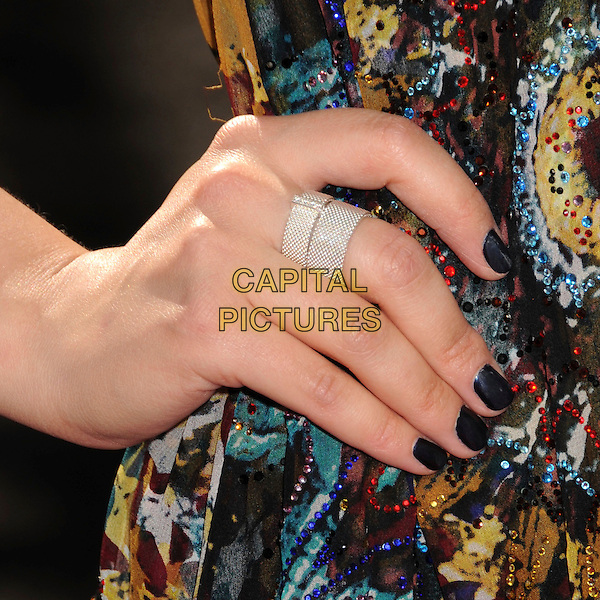 "GINNIFER GOODWIN .""Speed Racer"" Los Angeles Premiere at the Nokia Theatre, Los Angeles, California, USA, 26 April 2008..detail hand ring rings silver .CAP/ADM/BP.©Byron Purvis/Admedia/Capital PIctures"