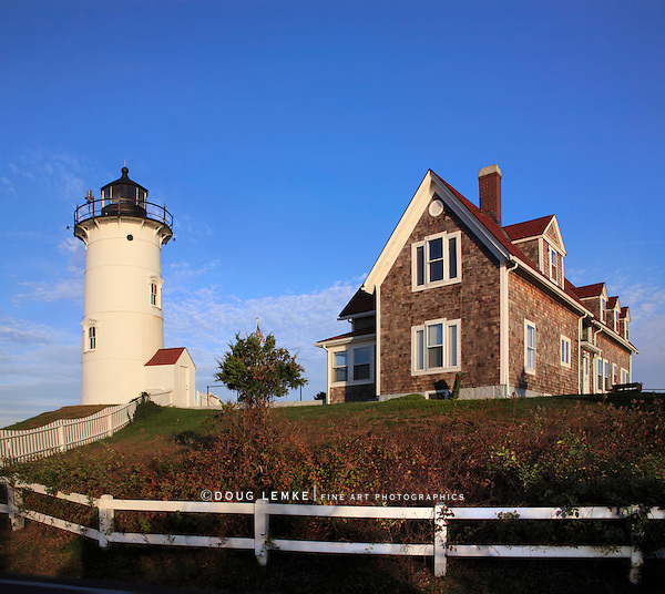 A Sleepy Morning On The Cape, The Nobska Point Lighthouse, Woods Hole, Cape Cod, Massachusetts, USA