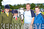 Felicity Taylor Knocknagoshel, Teresa, John and Michael O'Sullivan Kilgarvan with their horse Valmore Irish Mist who competed at the Kilgarvan agricultural show on Sunday.