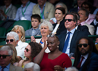 Former British Prime Minister David Cameron in attendance at Centre Court with his mother<br /> <br /> Photographer Ashley Western/CameraSport<br /> <br /> Wimbledon Lawn Tennis Championships - Day 10 - Thursday 13th July 2017 -  All England Lawn Tennis and Croquet Club - Wimbledon - London - England<br /> <br /> World Copyright &not;&copy; 2017 CameraSport. All rights reserved. 43 Linden Ave. Countesthorpe. Leicester. England. LE8 5PG - Tel: +44 (0) 116 277 4147 - admin@camerasport.com - www.camerasport.com
