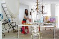 Artist Carolyn Quartermaine at home, France
