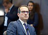 Owen Smith MP<br /> Labour Leadership candidate <br /> speaking at a press conference, 2 Savoy Place, London, Great Britain <br /> 5th September 2016 <br /> <br /> Owen Smith revealed the right-wing programme the Tory Party in 2020 could run an election on - and implement in government - if Labour continues to fail to form a credible opposition.<br /> <br /> Mr Smith outlined the policies that senior Tories, including those in Cabinet, have argued for and therefore could form the basis of the party&rsquo;s next manifesto - if the Tories felt Labour were no threat.<br /> <br /> <br /> <br /> Photograph by Elliott Franks <br /> Image licensed to Elliott Franks Photography Services