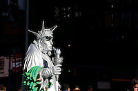 Lady Liberty is spotted in Times Square, Manhattan, NY.