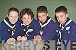 Lissivigeen scouts who participated in the Kerry Scouts table quiz in Fossa Community Centre on Sunday l-r: Sam Casey, Caolan McMonagle, Tomas amd Fionn Houlihan.