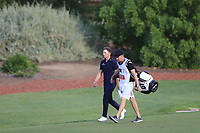 Matt Wallace (ENG) on the 18th during the 1st round of the DP World Tour Championship, Jumeirah Golf Estates, Dubai, United Arab Emirates. 21/11/2019<br /> Picture: Golffile | Fran Caffrey<br /> <br /> <br /> All photo usage must carry mandatory copyright credit (© Golffile | Fran Caffrey)