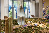 Modell des Hotel Atlantis bei Sanya Insel Hainan, China<br /> Model of Hotel Atlantis near Sanya, Hainan island, China