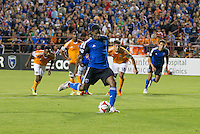 Santa Clara, California - May 7, 2014: San Jose Earthquakes face off against Houston Dynamo at Buck Shaw Stadium on Saturday.