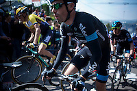 Philip Deignan (IRL/SKY) up the infamous Mur de Huy (1300m/9.8%)<br /> <br /> 79th Fl&egrave;che Wallonne 2015