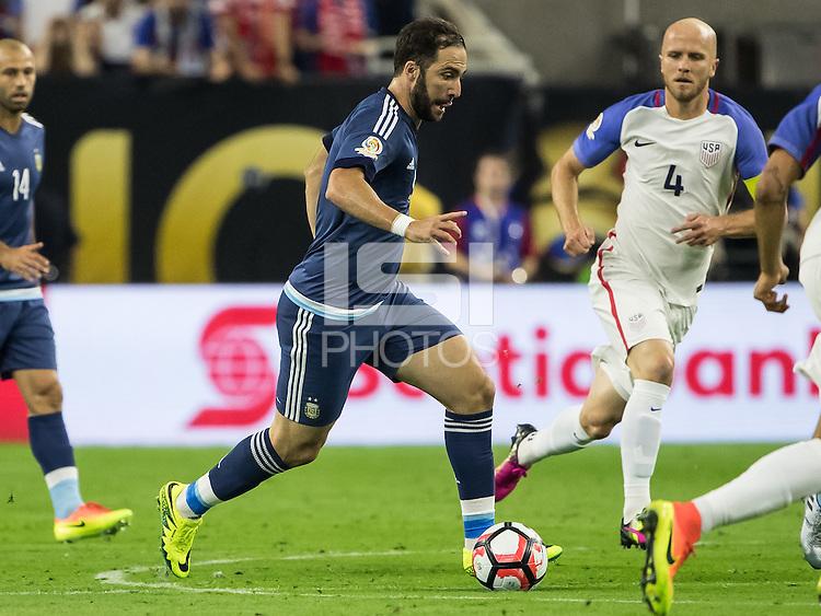 HOUSTON, TEXAS - June 21, 2016: Copa America Centenario USA 2016.  USA vs Argentina in a match at NRG Stadium.  Final score Argentina 4, USA 0.