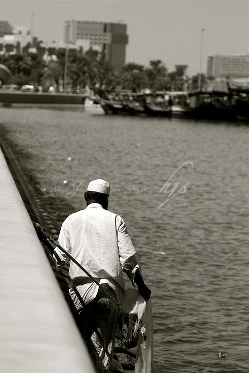 Local fisher man on the corniche, Arabian Gulf, Doha, Qatar | Sept 09