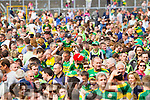 Kerry fans on the pitch after defeating Tipperary in the Senior Munster Football Final at Fitzgerald Stadium, Killarney on Sunday.