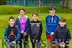 Conor Morrissey, Helen Moynihan, Ethan Ballard, Mark O'Regan and Nicky Hoare all Tralee playing in the Kerry U16 Pitch and Putt Strokeplay Championships in Deerpark on Saturday