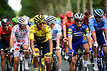 Julian Alaphilippe (FRA) Deceuninck-Quick Step and Yellow Jersey winner Egan Bernal (COL) Team Ineos at the start of Stage 21 of the 2019 Tour de France running 128km from Rambouillet to Paris Champs-Elysees, France. 28th July 2019.<br /> Picture: ASO/Alex Broadway | Cyclefile<br /> All photos usage must carry mandatory copyright credit (© Cyclefile | ASO/Alex Broadway)
