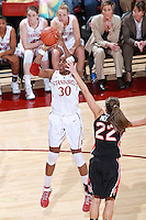 STANFORD, CA - January 7, 2012: Stanford Cardinal's Nnemkadi Ogwumike during Stanford's 67-60 victory over Oregon State at Maples Pavilion in Stanford, California.
