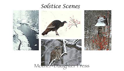 Solstice scenes card set