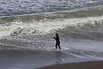 Surf fishing at Rockaway Beach