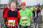 Edward Flahive and Tom Scanlon runners at the Kerry's Eye Tralee, Tralee International Marathon and Half Marathon on Saturday.