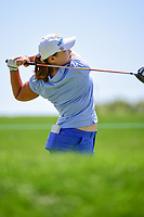 Mirim Lee (KOR) watches her tee shot on 2 during Sunday's final round of the 72nd U.S. Women's Open Championship, at Trump National Golf Club, Bedminster, New Jersey. 7/16/2017.<br /> Picture: Golffile | Ken Murray<br /> <br /> <br /> All photo usage must carry mandatory copyright credit (&copy; Golffile | Ken Murray)