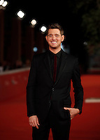 "Il cantante canadese Michael Buble' posa sul red carpet per la presentazione del film concerto ""Tour Stop 148""  al Festival Internazionale del Film di Roma, 14 ottobre 2016.<br />