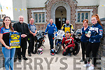 Until We Meet Again : Pictured at The Church of the Assumption , Moyvane to announce the upcoming Memorial Mass for all Biker to be held on the 15th July were Eileen O)'flaherty, Fr. Kevin McNamara, Rob Heffernan, Pat Flynn, Tony Goggin, Dominic Hunt, Brenda Heffernan & Katelyn Flynn.