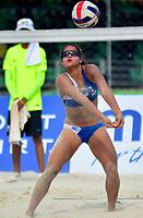 BARRANQUILLA - COLOMBIA, 30-07-2018:Allains Navas (PRO) en Voley playa .Juegos Centroamericanos y del Caribe Barranquilla 2018. /Allains Navas (PRO) in Beach volleyball of the Central American and Caribbean Sports Games Barranquilla 2018. Photo: VizzorImage /  Alfonso Cervantes /Contribuidor