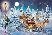 Interlitho, Patricia, CHRISTMAS SANTA, SNOWMAN, paintings, sleigh, santa, house(KL5740,#X#) Weihnachtsmänner, Schneemänner, Weihnachen, Papá Noel, muñecos de nieve, Navidad, illustrations, pinturas