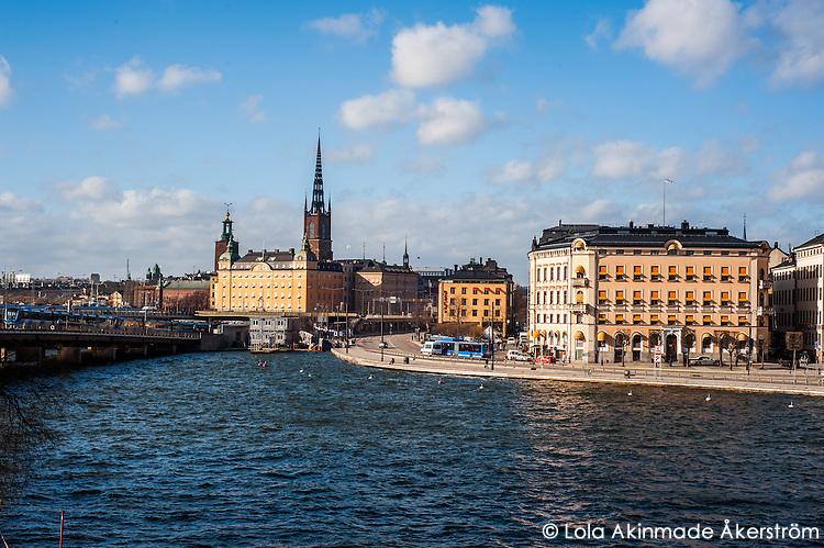 View of Riddarholmen and Gamla stan - Street scenes from Stockholm