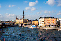 View of Riddarholmen and Gamla stan - Street scenes from Stockholm