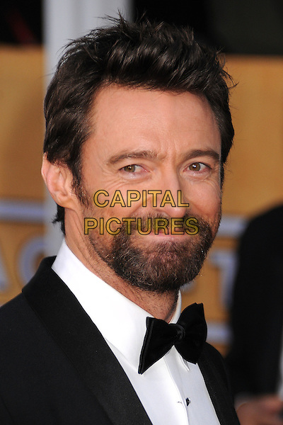 Hugh Jackman.Arrivals at the 19th Annual Screen Actors Guild Awards at the Shrine Auditorium in Los Angeles, California, USA..27th January 2013.SAG SAGs headshot portrait black white bow tie tuxedo .CAP/ADM/BP.©Byron Purvis/AdMedia/Capital Pictures