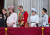 PRINCE WILLIAM,KATE, DUCHESS OF CAMBRIDGE, AND PRINCESS BEATRICE AND EUGENIE<br /> watch the flypast by the RAF on the balcony of Buckingham Palace during Trooping of the Colour.<br /> The Duke of Edinburgh missed the event as he is hospitalised after undergoing surgery.<br /> The Trooping marks the official birthday of the Queen_15/6/2013<br /> Mandatory Credit Photo: &copy;NEWSPIX INTERNATIONAL<br /> <br /> **ALL FEES PAYABLE TO: &quot;NEWSPIX INTERNATIONAL&quot;**<br /> <br /> IMMEDIATE CONFIRMATION OF USAGE REQUIRED:<br /> Newspix International, 31 Chinnery Hill, Bishop's Stortford, ENGLAND CM23 3PS<br /> Tel:+441279 324672  ; Fax: +441279656877<br /> Mobile:  07775681153<br /> e-mail: info@newspixinternational.co.uk