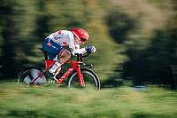 Alex Dowsett (GBR/Katusha-Alpecin)<br /> <br /> MEN ELITE INDIVIDUAL TIME TRIAL<br /> Hall-Wattens to Innsbruck: 52.5 km<br /> <br /> UCI 2018 Road World Championships<br /> Innsbruck - Tirol / Austria