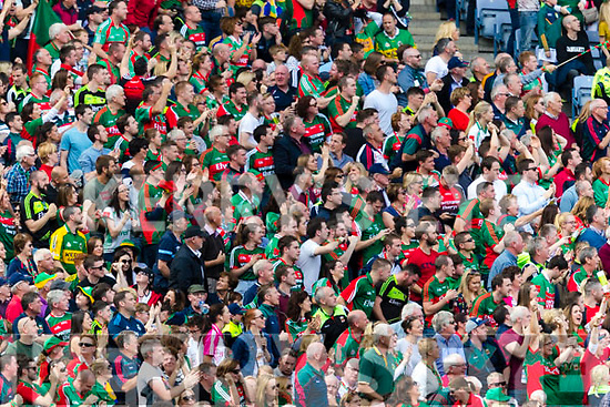 Mayo Supporters watch Kerry v Mayo in the All Ireland Semi Final Replay in Croke Park on Saturday.