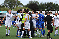 Tempers flare at the final whistle and stewards and security attempt to break up the brawl during Bromley vs Chesterfield, Vanarama National League Football at the H2T Group Stadium on 7th September 2019