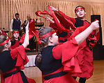PLANTSVILLE, CT- 27 November 2015-112715EC04--   Dancer Leonora Zulali, with the Hasan-Prishtina Dance Group, celebrates Albania's Independence Day at the Aqua Turf in Plantsville. Music and singing highlighted the night, along with Albanian speakers. The event, also known as Albanian Flag Day, was sold out shortly after tickets went on sale. Erin Covey Republican-American.
