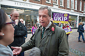UKIP leader Nigel Farage campaigning in Rochester before the Rochester and Strood by-election.