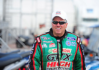 Apr. 27, 2012; Baytown, TX, USA: NHRA funny car driver John Force during qualifying for the Spring Nationals at Royal Purple Raceway. Mandatory Credit: Mark J. Rebilas-