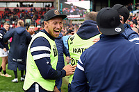 Bristol Bears Coach Bruce Reihana celebrates after the match. Gallagher Premiership match, between Leicester Tigers and Bristol Bears on April 27, 2019 at Welford Road in Leicester, England. Photo by: Patrick Khachfe / JMP