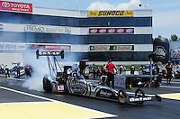 Jun. 3, 2012; Englishtown, NJ, USA: NHRA top fuel dragster driver Shawn Langdon during the Supernationals at Raceway Park. Mandatory Credit: Mark J. Rebilas-