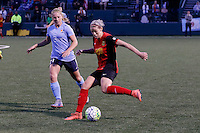 Rochester, NY - Saturday May 21, 2016: Western New York Flash defender Alanna Kennedy (8) and Sky Blue FC forward Leah Galton (21). The Western New York Flash defeated Sky Blue FC 5-2 during a regular season National Women's Soccer League (NWSL) match at Sahlen's Stadium.