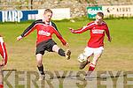 Asdee's Rory Mulvihill and Iveragh's Eoin O'Sullivan...