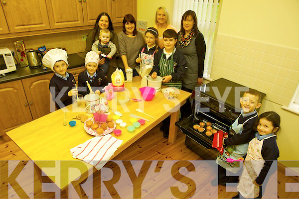 Baking up a storm will be the children and parents of Killury national school, Causeway  who are planning to hold a tea and coffee morning on Sunday February 9th in the school after 10am Mass. Pictured were: Anna Egana nd Luke Donnellan. Back l-r were: Dean McElligott, Abbie Mulvihill, Conor Egan, Louise Egan, Gretta Sheehan, Cathy Quilter, Catherine Nealan, Ciara Sayers and Jason Carmody.