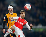 Mathieu Flamini of Arsenal - English FA Cup - Hull City vs Arsenal - The KC Stadium - Hull - England - 8th March 2016 - Picture Simon Bellis/Sportimage